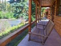 grizzly cabin porch swing with river view