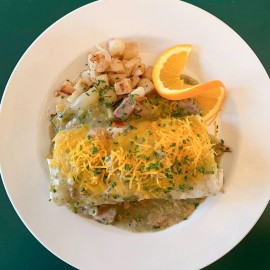 Green Chili smothered burrito